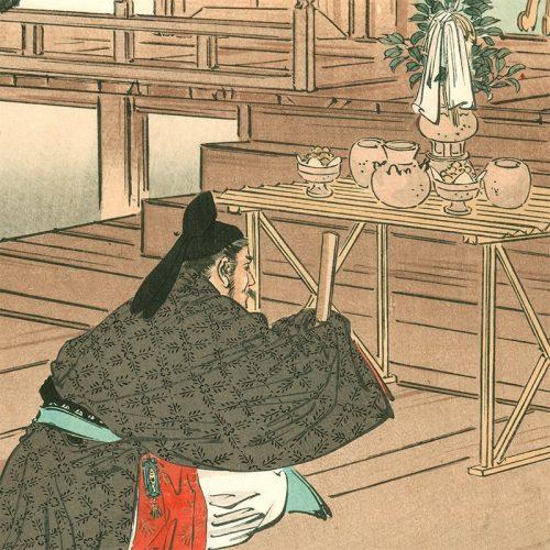Ogata Gekkō – Shinto Altar at Hachiman Shrine, Gekko's Essay (featured)