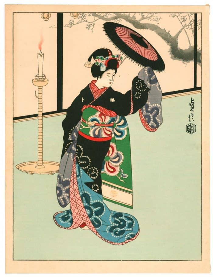 Sadanobu Hasegawa III - Kyo-Maiko - Dancing Girl