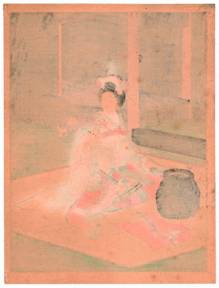 Sadanobu Hasegawa III - Kyo-Maiko - Flower Arrangement (verso)