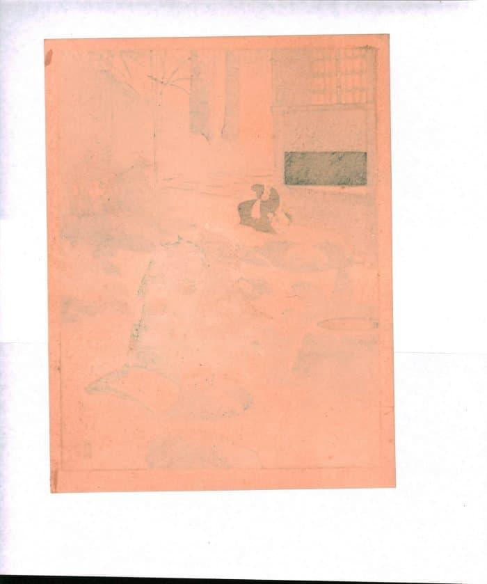 Sadanobu Hasegawa III - Kyo-Maiko - Girl Washing Hands (verso)