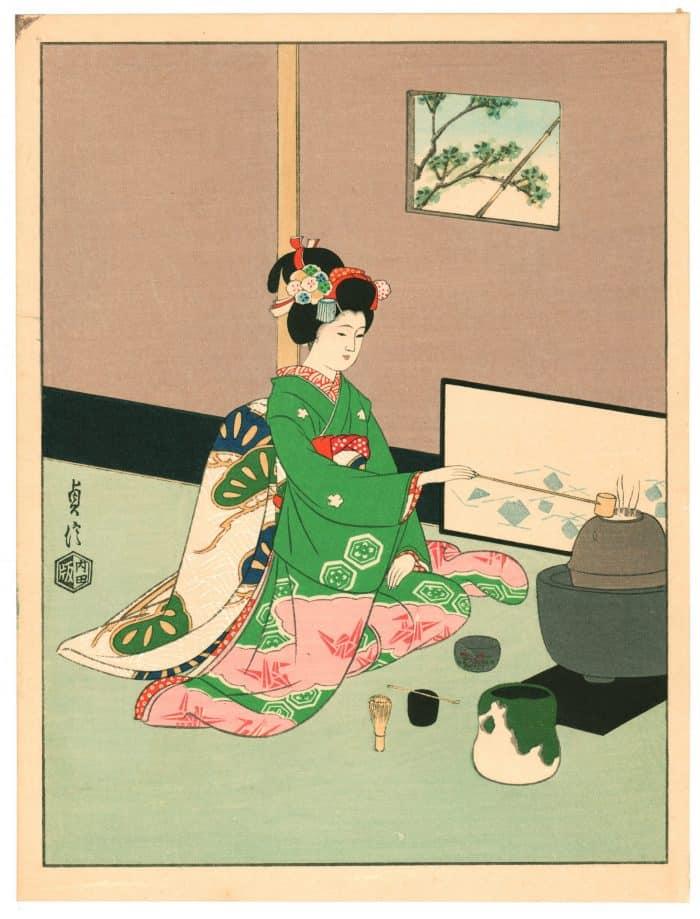 Sadanobu Hasegawa III - Kyo-Maiko - Tea Ceremony