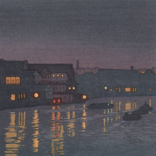 Toshi Yoshida - From the Ryogoku Bridge (featured)