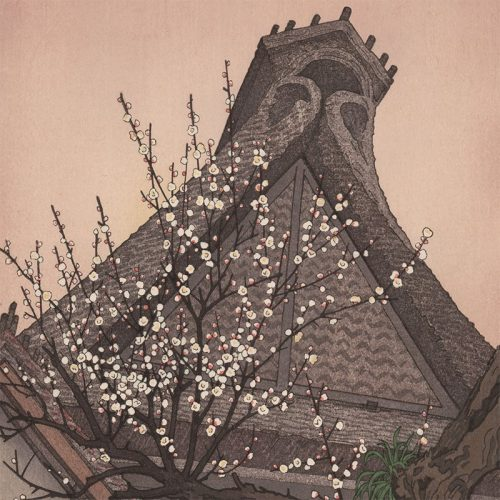 Toshi Yoshida - White Plum in the Farmyard (featured)