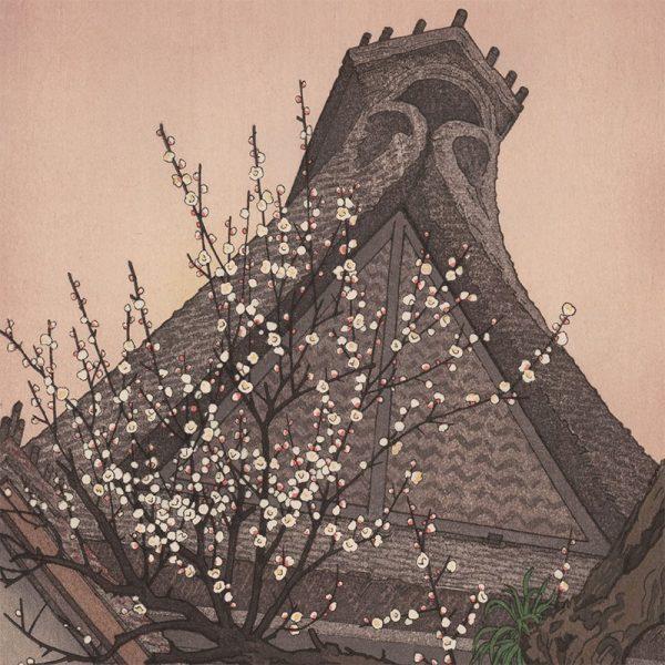 Toshi Yoshida - White Plum in the Farmyard (featured)