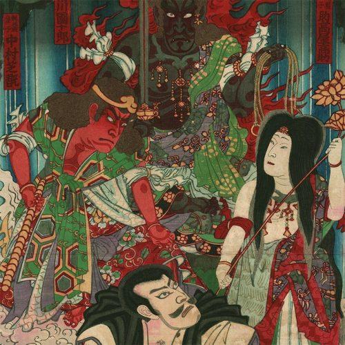Toyohara Kunichika - Board game of the Flower Stage (Hanabutai atari sugoroku) (featured)