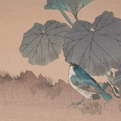 Tsukioka Kogyo - Bluebird and Waterlily (featured)