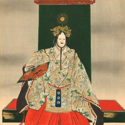 "Tsukioka Kogyo - Ema (center panel of triptych), from the series ""One Hundred Noh Dramas (Nogaku hyakuban)"" (featured)"