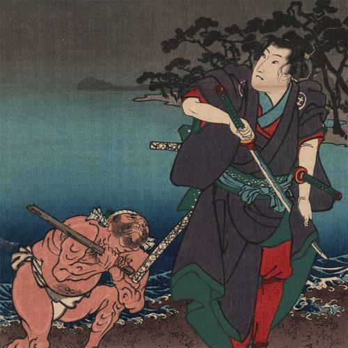 Utagawa Kuniyoshi - Shinagawa, from Fifty-three Pairings for the Tokaido Road (featured)
