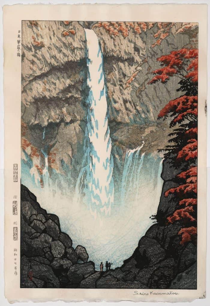 Shiro Kasamatsu - Kegon Falls (signed)