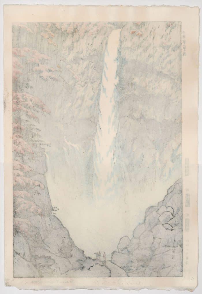 Shiro Kasamatsu - Kegon Falls (signed) (verso)