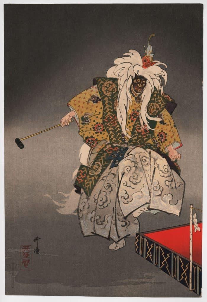 Tsukioka Kogyo - Kokaji (The Swordsmith) (diptych) (left panel)