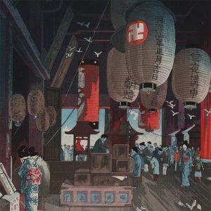 Eisho Narazaki - Inside Asakusa Kannon Temple (featured)