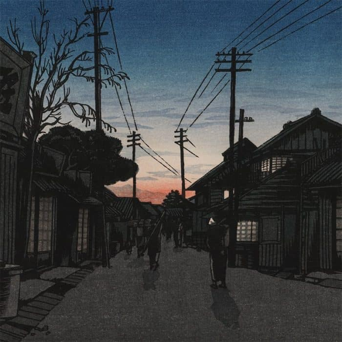 Ishiwata Kōitsu - Imamiya Street, Choshi, at Dusk (featured)