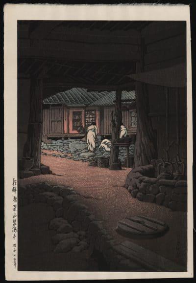 Kawase Hasui - Chunum Temple in Korea