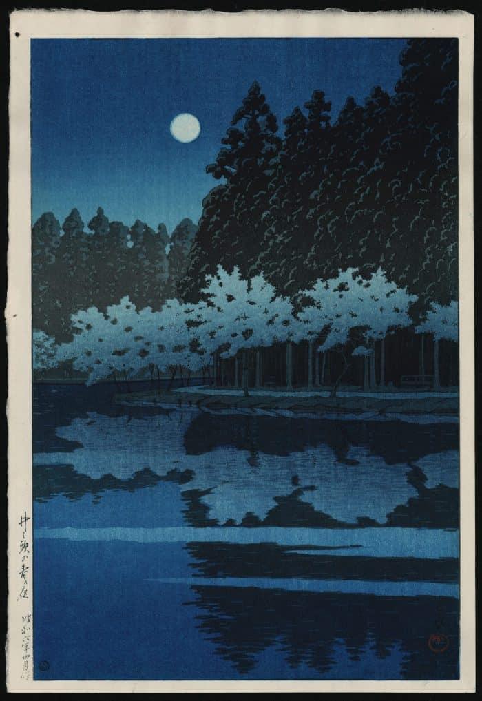 Kawase Hasui - Spring Night at Inokashira