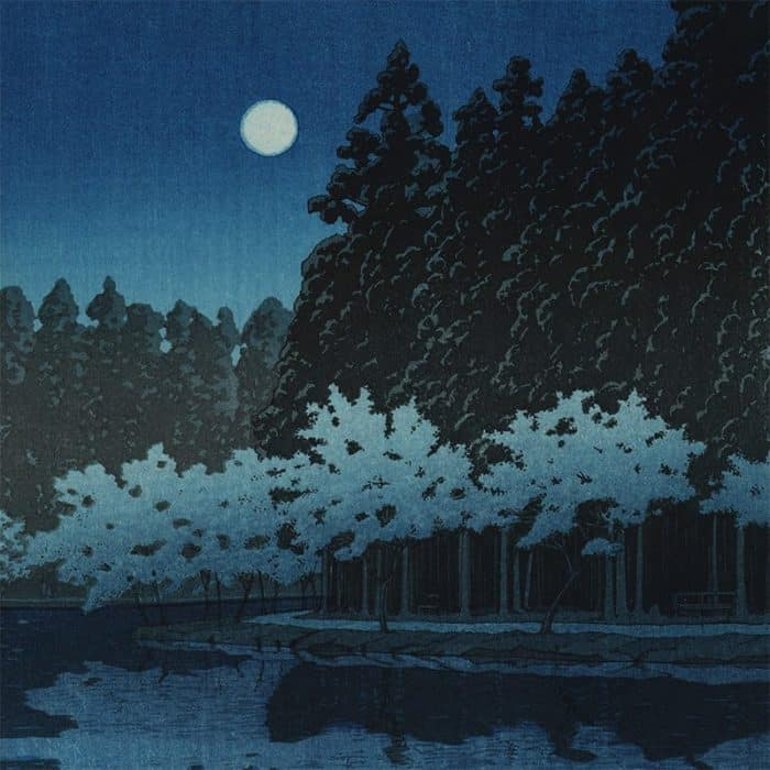 Kawase Hasui - Spring Night at Inokashira (featured)
