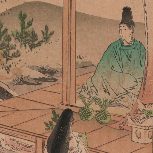 Ogata Gekkō - Chapter 23, The First Warbler, The Tale of Genji (featured)