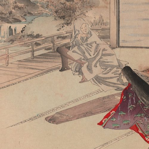 Ogata Gekkō - Matsukaze, The Wind in the Pines, The Tale of Genji (featured)