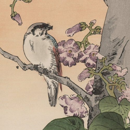 Yoshimoto Gesso - Bird and Flowering Tree (featured)
