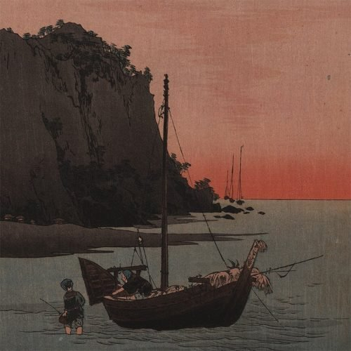 Yoshimoto Gesso - Fishermen Going Home (featured)