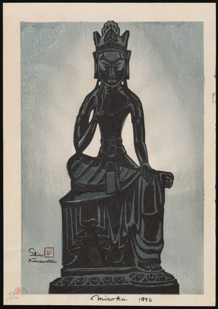 Shiro Kasamatsu - Miroku, Seated Buddha
