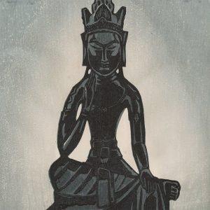Shiro Kasamatsu - Miroku, Seated Buddha (featured)