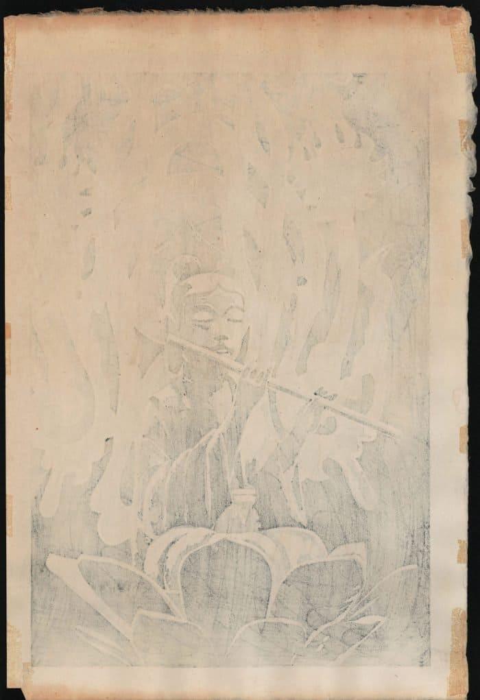 Shiro Kasamatsu - Angel with Flute (verso)