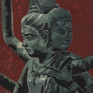 "Shiro Kasamatsu - ""Ashura"", Three-Headed Deity In Ashura Temple (featured)"