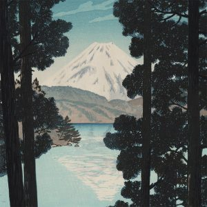 Shiro Kasamatsu - Mt Fuji From Lake Ashinoko at Hakone (featured)