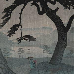 Shiro Kasamatsu - Spring Rain at Kinokuni Mound (Kinokunisaka Rain) (featured)