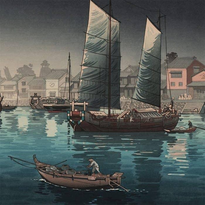 Tsuchiya Koitsu - Akashi Harbor, Inland Sea at Seto (featured)