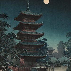 Tsuchiya Koitsu - Asakusa Kinryuzan Temple (featured)
