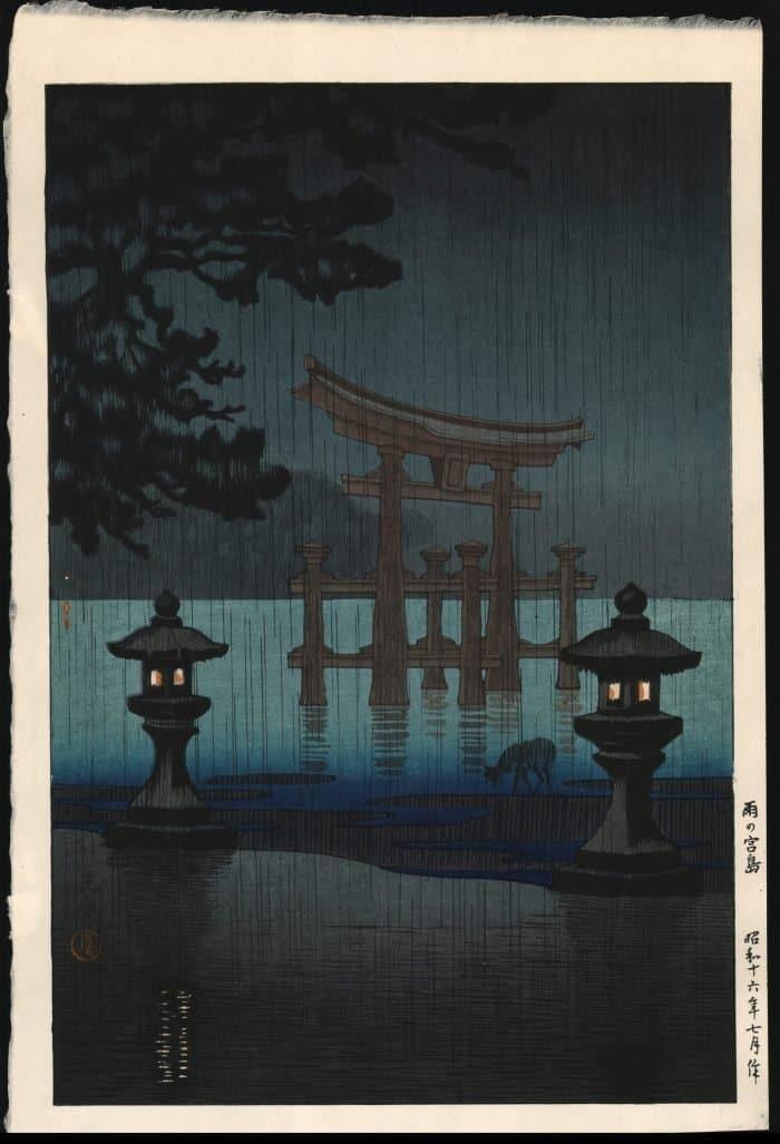 Tsuchiya Koitsu - Rain in Miyajima