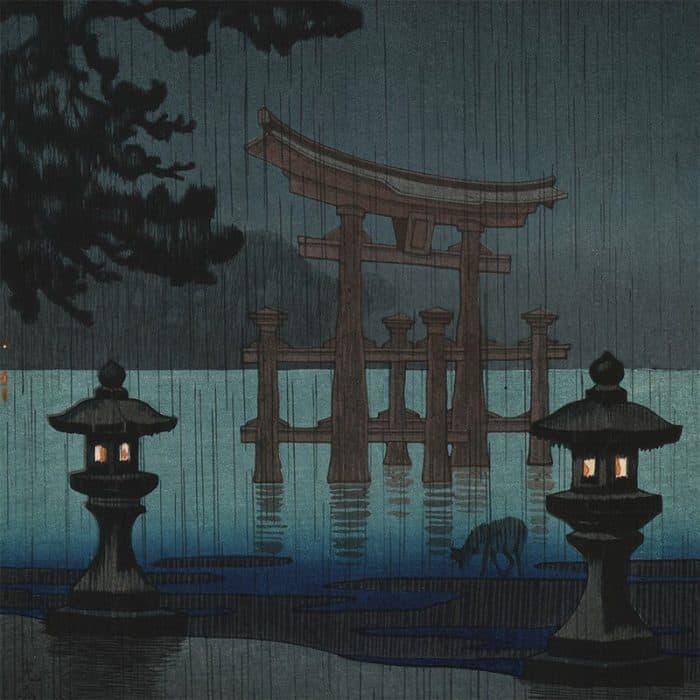 Tsuchiya Koitsu - Rain in Miyajima (featured)