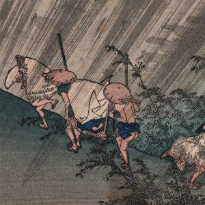 Utagawa Hiroshige - Shôno, from the series Fifty-three Stations of the Tôkaidô Road (featured)