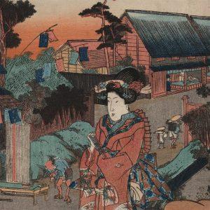 Utagawa Kunisada - View of Minakuchi (featured)