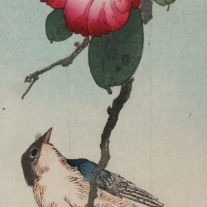 Yoshimoto Gesso - Bird and Red Camellia (featured)