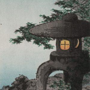 Shoda Koho - Stone Lantern and the Crescent Moon (featured)