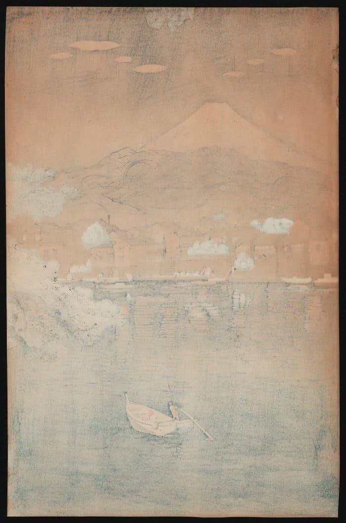 Tsuchiya Koitsu - Tokaido Numazu Harbor (verso)
