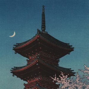 Kawase Hasui - Spring Evening at the Tôshôgû Shrine in Ueno (featured)