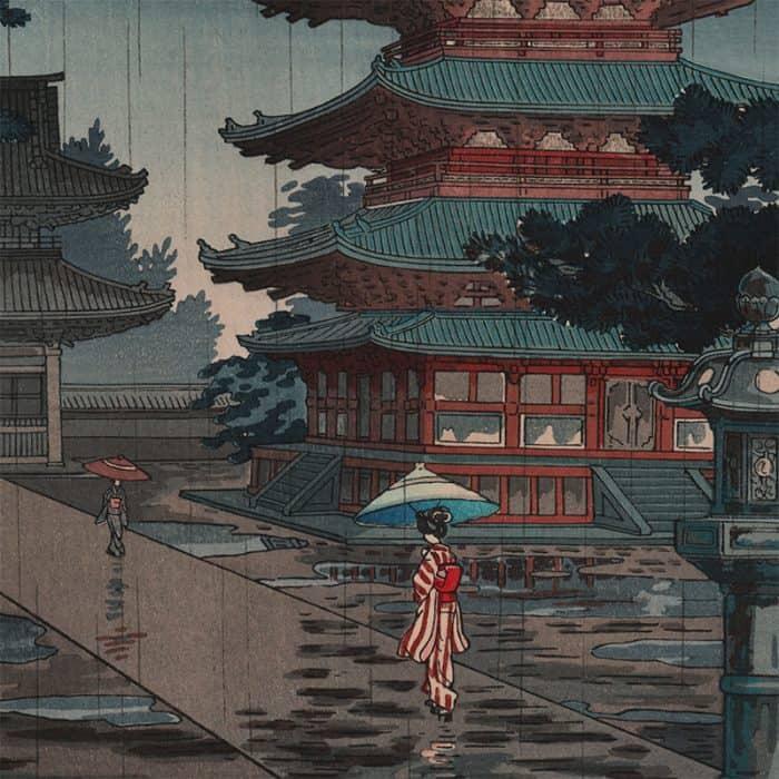 Tsuchiya Koitsu - Horyu-ji Temple in Nara (featured)