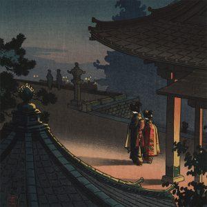 Tsuchiya Koitsu - Evening at Miidera Temple (featured)