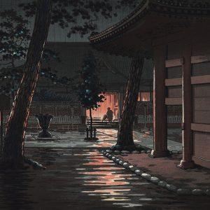 Tsuchiya Koitsu - Sengakuji Temple at Takanawa (featured)