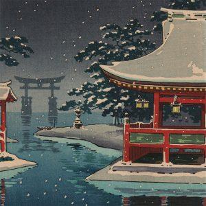 Tsuchiya Koitsu - Snowy Miyajima (featured)